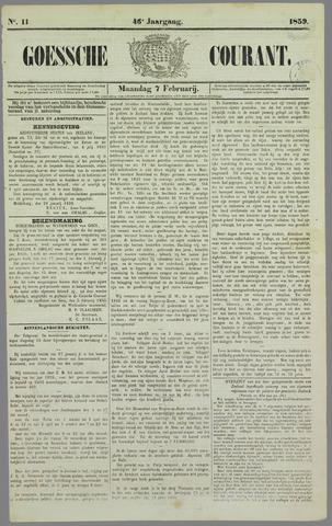 Goessche Courant 1859-02-07
