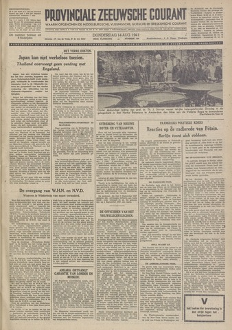 Provinciale Zeeuwse Courant 1941-08-14