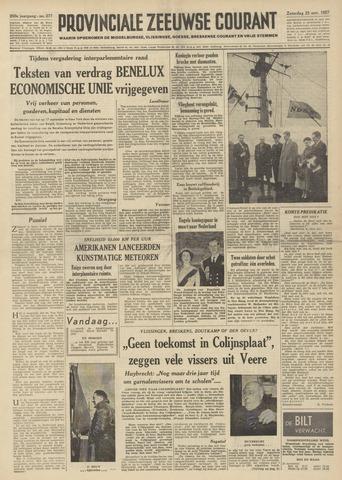 Provinciale Zeeuwse Courant 1957-11-23
