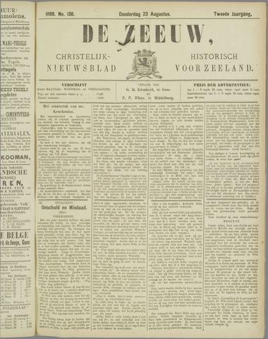 De Zeeuw. Christelijk-historisch nieuwsblad voor Zeeland 1888-08-23
