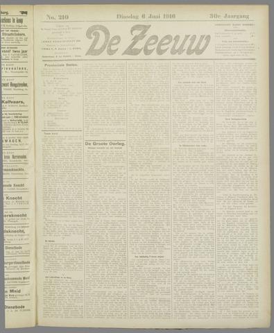De Zeeuw. Christelijk-historisch nieuwsblad voor Zeeland 1916-06-06