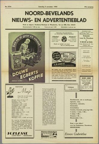 Noord-Bevelands Nieuws- en advertentieblad 1955-11-05