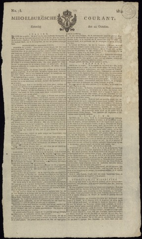 Middelburgsche Courant 1814-10-22