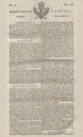 Middelburgsche Courant 1758-08-15