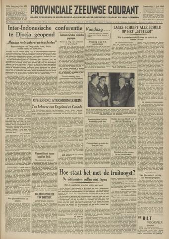 Provinciale Zeeuwse Courant 1949-07-21