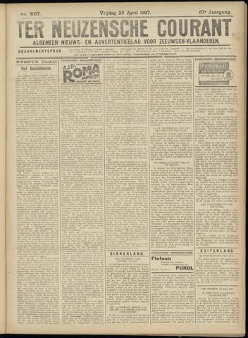 Ter Neuzensche Courant. Algemeen Nieuws- en Advertentieblad voor Zeeuwsch-Vlaanderen / Neuzensche Courant ... (idem) / (Algemeen) nieuws en advertentieblad voor Zeeuwsch-Vlaanderen 1927-04-22