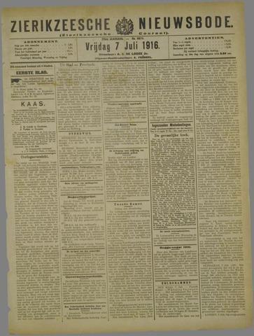 Zierikzeesche Nieuwsbode 1916-07-07