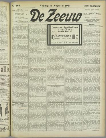 De Zeeuw. Christelijk-historisch nieuwsblad voor Zeeland 1921-08-12