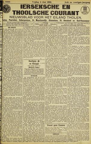 Ierseksche en Thoolsche Courant 1931-06-05