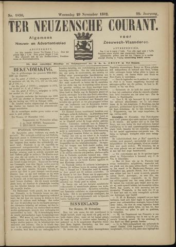 Ter Neuzensche Courant. Algemeen Nieuws- en Advertentieblad voor Zeeuwsch-Vlaanderen / Neuzensche Courant ... (idem) / (Algemeen) nieuws en advertentieblad voor Zeeuwsch-Vlaanderen 1882-11-29