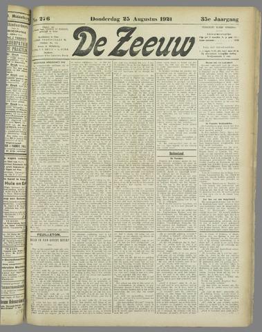 De Zeeuw. Christelijk-historisch nieuwsblad voor Zeeland 1921-08-25