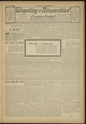 Zeeuwsch Nieuwsblad/Wegeling's Nieuwsblad 1931-11-27