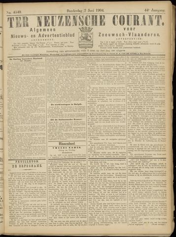 Ter Neuzensche Courant. Algemeen Nieuws- en Advertentieblad voor Zeeuwsch-Vlaanderen / Neuzensche Courant ... (idem) / (Algemeen) nieuws en advertentieblad voor Zeeuwsch-Vlaanderen 1904-06-02