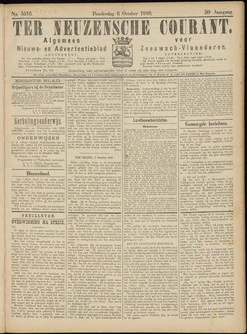 Ter Neuzensche Courant. Algemeen Nieuws- en Advertentieblad voor Zeeuwsch-Vlaanderen / Neuzensche Courant ... (idem) / (Algemeen) nieuws en advertentieblad voor Zeeuwsch-Vlaanderen 1910-10-06
