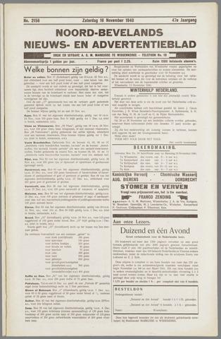 Noord-Bevelands Nieuws- en advertentieblad 1940-11-16