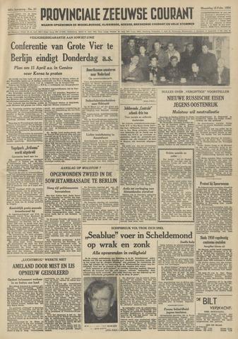 Provinciale Zeeuwse Courant 1954-02-15