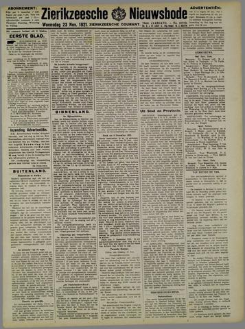 Zierikzeesche Nieuwsbode 1921-11-23