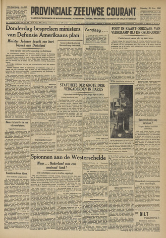 Provinciale Zeeuwse Courant 1949-11-29