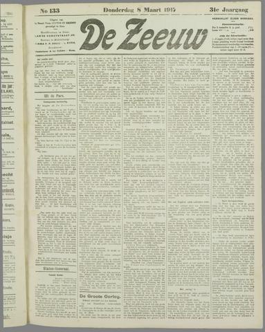 De Zeeuw. Christelijk-historisch nieuwsblad voor Zeeland 1917-03-08