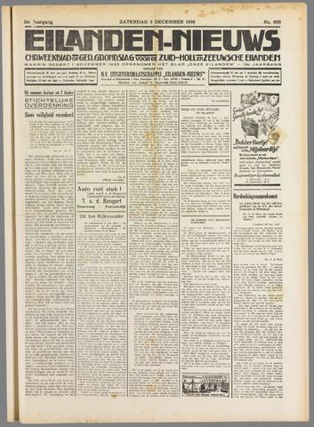 Eilanden-nieuws. Christelijk streekblad op gereformeerde grondslag 1938-12-03
