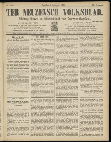 Ter Neuzensch Volksblad. Vrijzinnig nieuws- en advertentieblad voor Zeeuwsch- Vlaanderen / Zeeuwsch Nieuwsblad. Nieuws- en advertentieblad voor Zeeland 1913-09-13