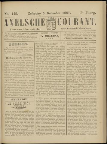Axelsche Courant 1887-12-03