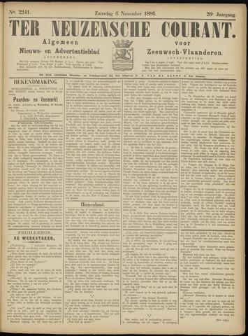 Ter Neuzensche Courant. Algemeen Nieuws- en Advertentieblad voor Zeeuwsch-Vlaanderen / Neuzensche Courant ... (idem) / (Algemeen) nieuws en advertentieblad voor Zeeuwsch-Vlaanderen 1886-11-06
