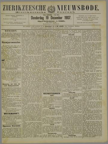 Zierikzeesche Nieuwsbode 1907-12-19
