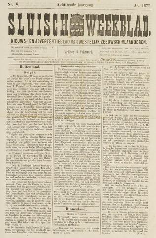 Sluisch Weekblad. Nieuws- en advertentieblad voor Westelijk Zeeuwsch-Vlaanderen 1877-02-09