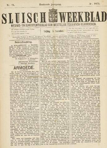 Sluisch Weekblad. Nieuws- en advertentieblad voor Westelijk Zeeuwsch-Vlaanderen 1875-12-03