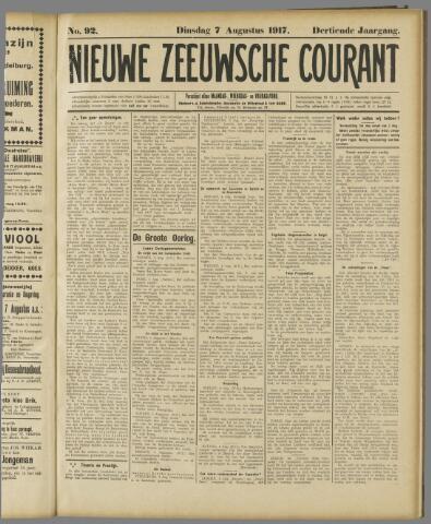 Nieuwe Zeeuwsche Courant 1917-08-07