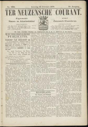 Ter Neuzensche Courant. Algemeen Nieuws- en Advertentieblad voor Zeeuwsch-Vlaanderen / Neuzensche Courant ... (idem) / (Algemeen) nieuws en advertentieblad voor Zeeuwsch-Vlaanderen 1878-02-23