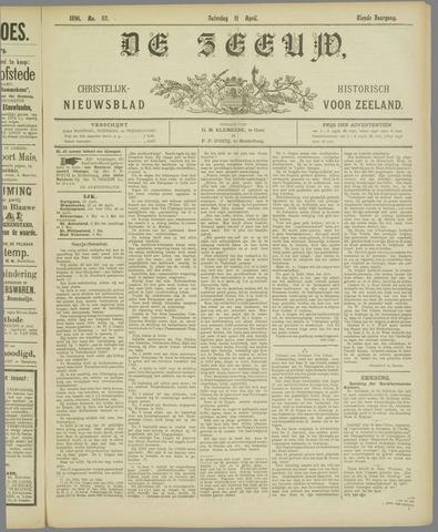De Zeeuw. Christelijk-historisch nieuwsblad voor Zeeland 1896-04-11