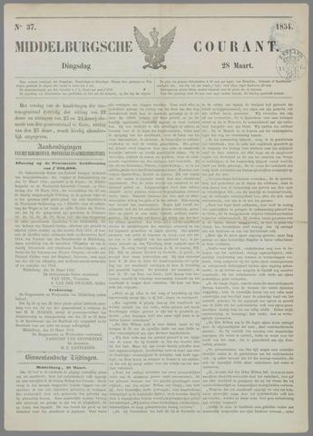 Middelburgsche Courant 1854-03-28