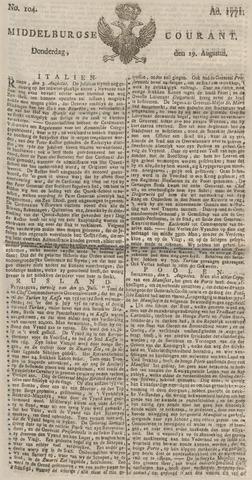 Middelburgsche Courant 1771-08-29
