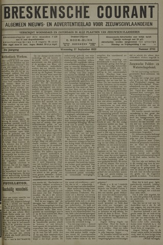 Breskensche Courant 1922-09-27