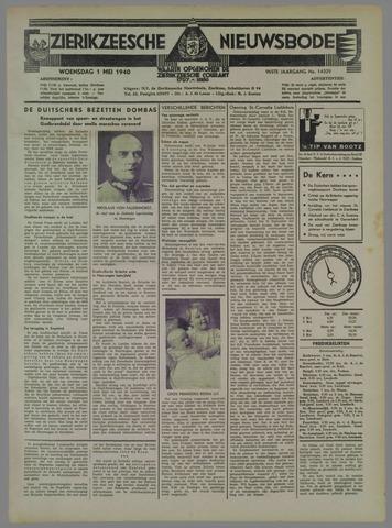 Zierikzeesche Nieuwsbode 1940-05-01