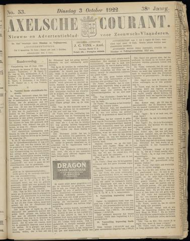 Axelsche Courant 1922-10-03