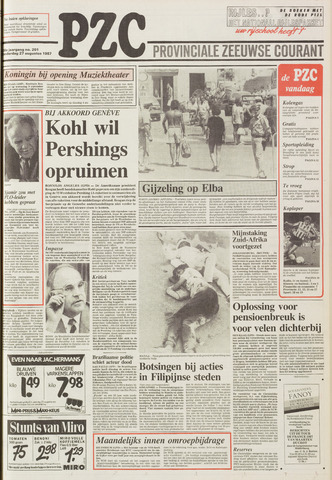 Provinciale Zeeuwse Courant 1987-08-27