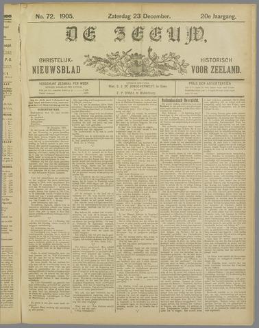 De Zeeuw. Christelijk-historisch nieuwsblad voor Zeeland 1905-12-23