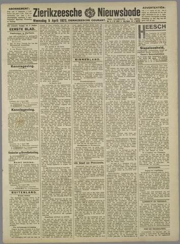 Zierikzeesche Nieuwsbode 1922-04-05