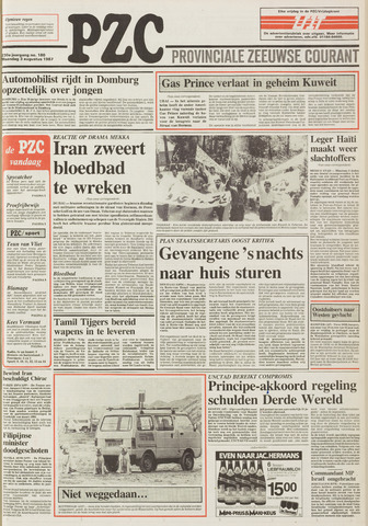 Provinciale Zeeuwse Courant 1987-08-03