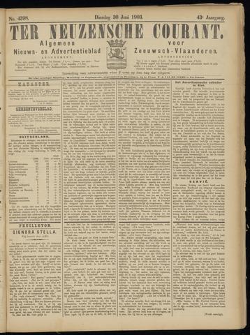 Ter Neuzensche Courant. Algemeen Nieuws- en Advertentieblad voor Zeeuwsch-Vlaanderen / Neuzensche Courant ... (idem) / (Algemeen) nieuws en advertentieblad voor Zeeuwsch-Vlaanderen 1903-06-30