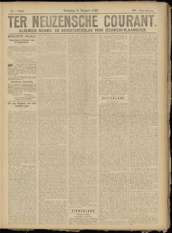 Ter Neuzensche Courant. Algemeen Nieuws- en Advertentieblad voor Zeeuwsch-Vlaanderen / Neuzensche Courant ... (idem) / (Algemeen) nieuws en advertentieblad voor Zeeuwsch-Vlaanderen 1923-03-09