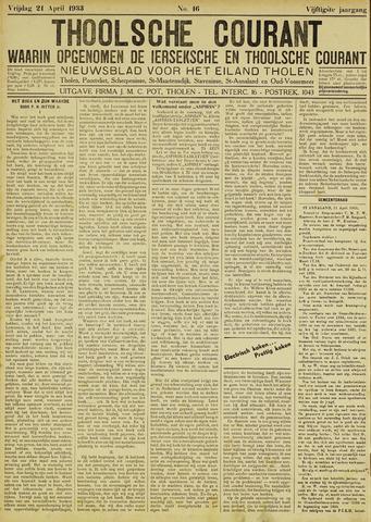 Ierseksche en Thoolsche Courant 1933-04-21