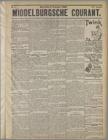 Middelburgsche Courant 1922-01-08