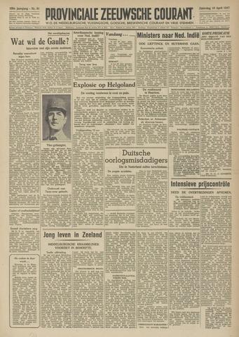 Provinciale Zeeuwse Courant 1947-04-19