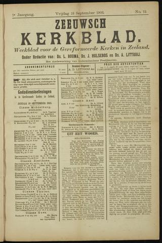 Zeeuwsche kerkbode, weekblad gewijd aan de belangen der gereformeerde kerken/ Zeeuwsch kerkblad 1903-09-18