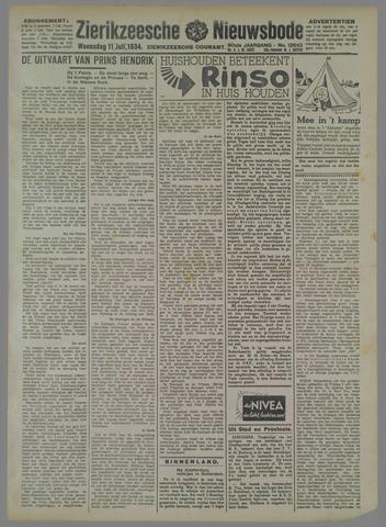 Zierikzeesche Nieuwsbode 1934-07-11