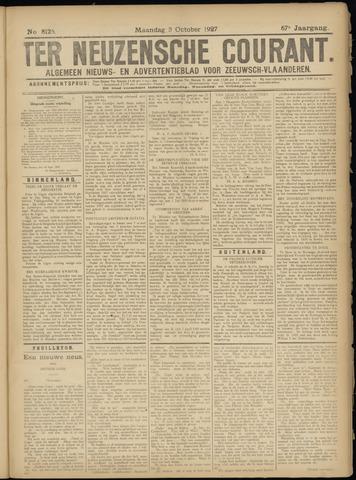 Ter Neuzensche Courant. Algemeen Nieuws- en Advertentieblad voor Zeeuwsch-Vlaanderen / Neuzensche Courant ... (idem) / (Algemeen) nieuws en advertentieblad voor Zeeuwsch-Vlaanderen 1927-10-03